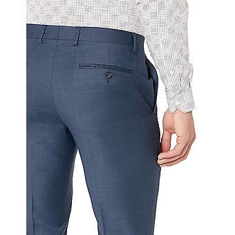 Original Penguin Hombres's Slim Fit Vestido Pantalón, Tiburón Azul Medio, 32W X 34L