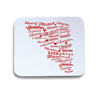 White mouse pad wtc1739 librarian librarian