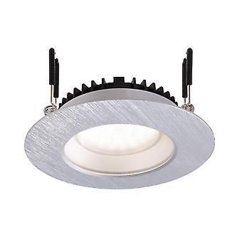 LED tak infälld armatur Arae 6,5 W 105 mm 4000 K inkl strömförsörjning dimbar silver IP20