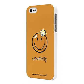 Smiley Rubber Orange Shell For Model Creativity By Moxie For Apple IPhone 5