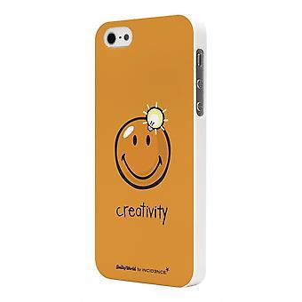 Coque Smiley Rubber Orange Pour Modèle Creativity By Moxie Pour Apple Iphone 5