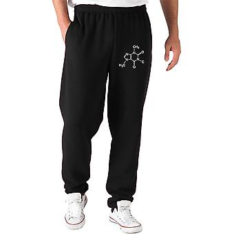 Pantaloni tuta nero dec0043 caffeina