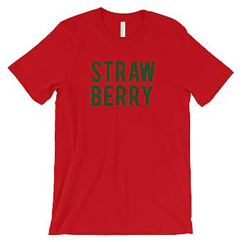 Strawberry Letters Mens Red T-Shirt