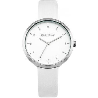 Karen Millen KM135W - watch round white woman