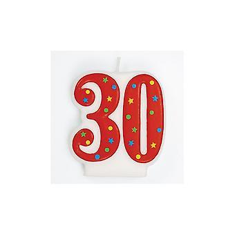 Culpitt Red Multi 'apos;30 'apos; Bougie - Simple