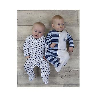 The Essential One Baby Boys Shine Brightly Sleepsuits - 2 Pack