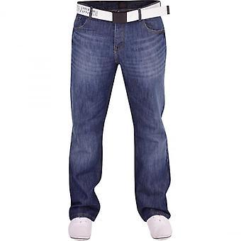Smith and Jones Men's Smith And Jones Designer Batusa Straight Leg Regular Fit Relaxed Denim Jeans