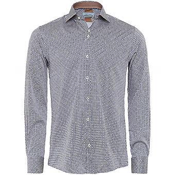 Guide London Stretch Fit Geometric Print Shirt