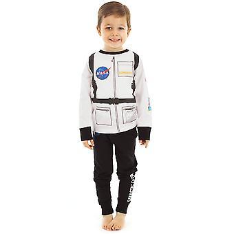 NASA Astronaut Boy's Long Sleeve Uniform Pyjama Set in Cotton