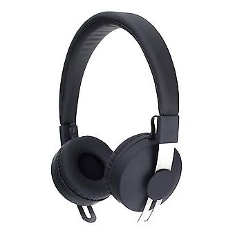 Xqisit BH100 أكثر من الأذن بلوتوث سماعة سوداء