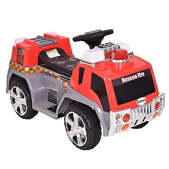 RideonToys4u Rescue Fire Engine 6V Electric Ride on Car Red Ages 3-8 Years