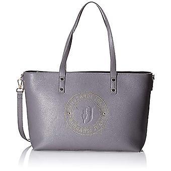 Trussardi Jeans Harper Shopper LG Tumbled Ecol Grey Women's Shoulder Bag (Anthracite/Gold) 28x15x37 cm (W x H x L)