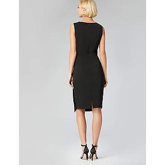 Truth & Fable Women's Front Twist Tunic Dress, Black EU S (US 4-6)