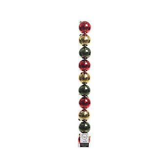 Deco Plain Shatterproof Christmas Baubles (Pack Of 10)