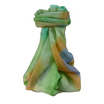 Maulbeere Seide zeitgenössische lange Schal Addi grün von Pashmina & Seide