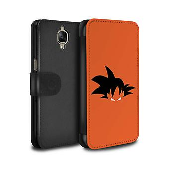 STUFF4 PU Leather Wallet Flip Case/Cover for OnePlus 3/3T/Goku Inspired/Anime Fighters