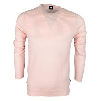 883 Police Suede Cotton Ribbed Light Pink Thin Knitwear Jumper