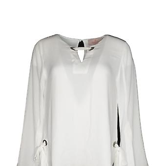 Laurie Felt Women's Top Blouse w/ Link Neck Detail White A301702