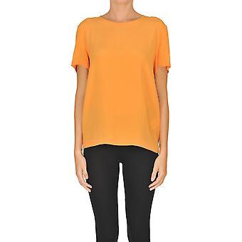 Semi-couture Ezgl426002 Women's Orange Silk Blouse