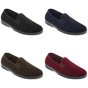 Sleepers Mens Anthony IV Velour Gusset Slippers