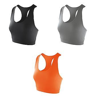 Spiro Womens/Ladies Softex Stretch Sports Sleeveless Crop Top