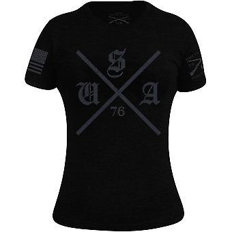 Grunt Style Women's U.S. Hard Core T-Shirt - Black