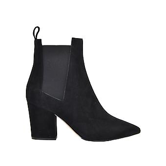 Sergio Rossi A85760mcaz011000 Women's Black Suede Ankle Boots