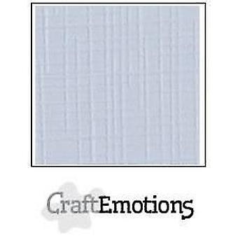 CraftEmotions linen cardboard 100 Sh classic white Bulk LC-102 30,5x30,5cm 250gr