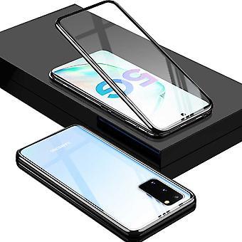 Dwustronny magnes 360 stopni / szklana obudowa obudowy zderzak czarny dla Samsung Galaxy S20 G980F