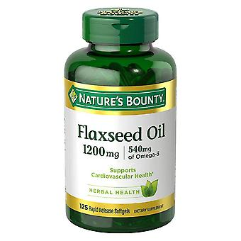 Nature's bounty flaxseed oil, 1200 mg, dietary supplement, softgels, 125 ea