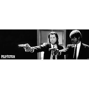 Pulp Fiction B & W Guns Tür Poster