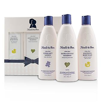 Noodle & Boo Starter cadeauset: Extra zacht Shampoo 237ml / 8oz + rustgevende lichaam wassen 237ml / 8oz + Super zachte Lotion 237ml / 8oz 3Delig