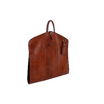 Ashwood Læder Foldet Suit Carrier - Natural Cow Tumble Læder - Rejsesuit Taske # Harper
