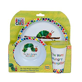 Eric Carle Very Hungry Caterpillar 3-Piece Dinner Set