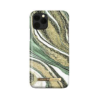 iDeal Of Sweden iPhone 11 Pro / XS / X shell - Cosmic Green Swirl
