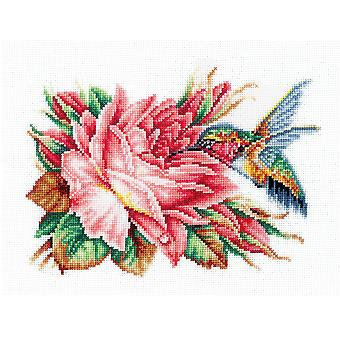 Andriana Cross Stitch Kit - Hummingbird and Rose