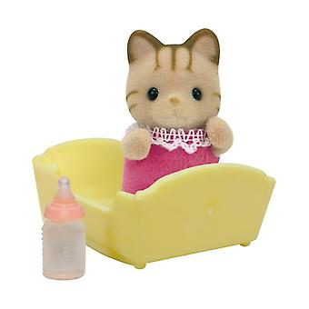 Sylvanian Families - Striped Cat Baby - Figure - Epoch