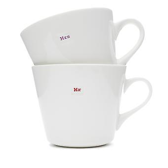 Keith Brymer Jones Bucket Mug Set, Mr and Mrs