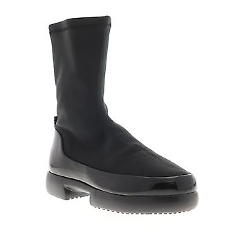 Camper Fiss  Womens Black Canvas Slip On Casual Dress Boots