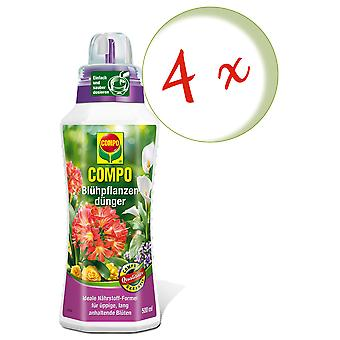 Sparset: 4 x COMPO Flowering plant fertilizer, 500 ml