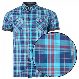 KAM Kam Check Button Down Short Sleeve Shirt