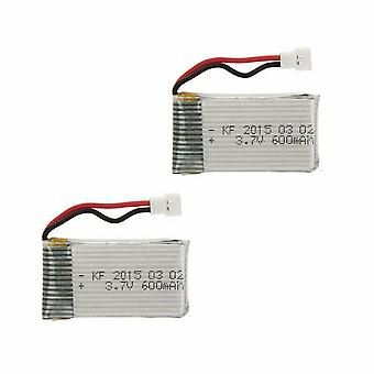 2 Pièces 3.7V 600mAh 25C Batterie Lipo X5 X5C X5C-1 X5SW X5SC X5SC X5SC-1 X5A