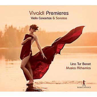 Vivaldi/Musica Alchemica/Tur Bonet - Vivaldi Premieres-Vln Con & Sons [CD] USA import