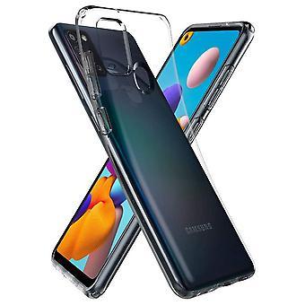Casco para Samsung Galaxy A21s Cristal Líquido Transparente