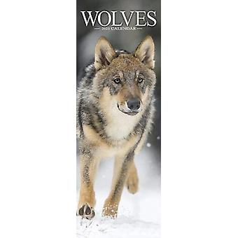 Wolves 2021 Slim Calendar by Created by Avonside Publishing Ltd