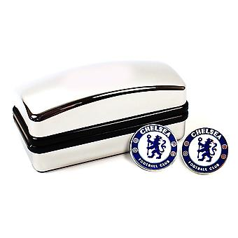 Chelsea FC Crest Cufflinks - Official Merchandise With Hologram - Football Club