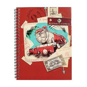 Harry Potter Premium Notizbuch DINA 5 Hogwarts Express Din A 5 mit Spiralbindung und Pappcover 200 Seiten, liniert.