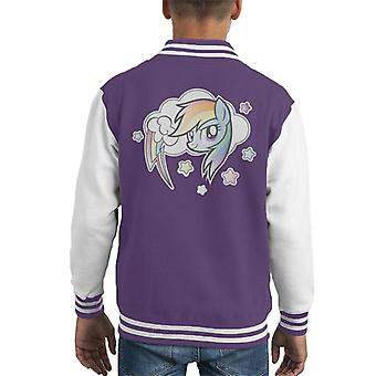 My Little Pony Rainbow Dash Cloud Kid's Varsity Jacket