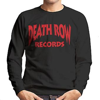 Death Row Records Logo rood mannen Sweatshirt