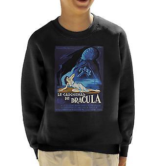 Hammer Horror films Dracula Franse film poster Kid ' s Sweatshirt
